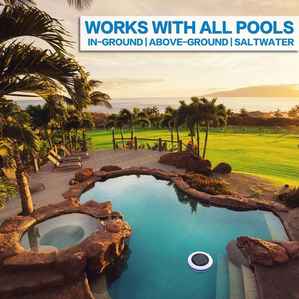 Outdoors - Solar Pool-Ionizer Copper Silver Ion Swimming Pool Purifier Water Purifier Kills Algae Solar Pool Ionizer