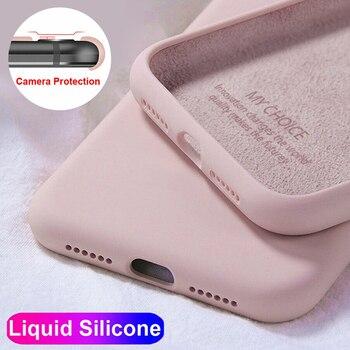 Перейти на Алиэкспресс и купить Для Huawei P10 P20 P40 P30 Mate 9 20 10 30 Pro Lite Чехол Оригинальный жидкий силиконовый чехол для Huawei Nova 2S 3i 4 5i 6 7 SE Coque