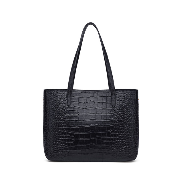 ZOOLER Only Large Black Leather Handbags for Bussiness Women Female Tote Bags Roomy Commuting Shoulder bags  Cow HOT#wg230