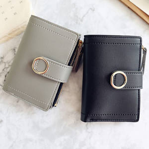 Purse Wallet Card-Bag Clutch Money-Clip Small Women Ladies Fashion-Brand for Female
