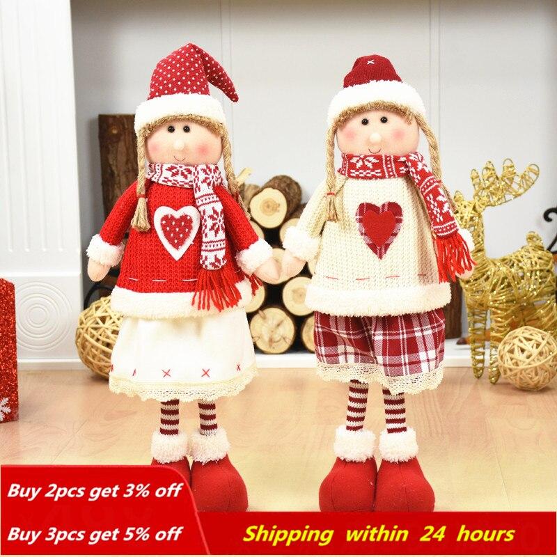 Decoración De Navidad Santa Claus muñeco De nieve Reno muñeca adornos colgante Navidad Año nuevo regalo Regalos De Navidad para el hogar