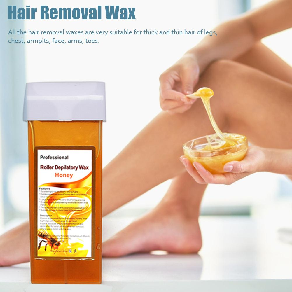 100G Professional Roller Depilatory Wax Natural No Irritation Anti-allergic Painless Depilatory Wax