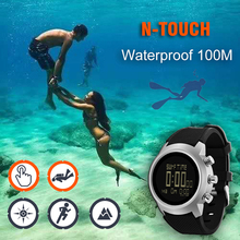 2019 جديد الرجال الغوص ساعة LED الرقمية العسكرية ساعة مقاوم للماء 50 متر الغوص السباحة الرياضة ساعات اليد البوصلة مقياس الارتفاع