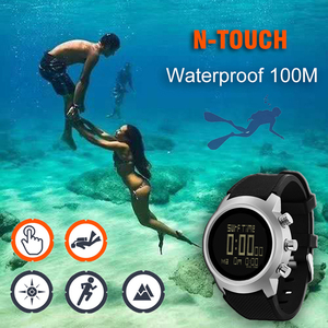 Image 1 - 2019 nowych mężczyzna zegarek do nurkowania cyfrowy zegarek wojskowy led wodoodporny 50M nurkowanie pływanie Sport zegarki zegarek kompas wysokościomierz