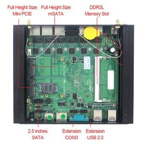 Image 4 - Xcy sans ventilateur Mini Pc Intel Core i3 7100U Celeron 6 LAN 211at Gigabit Ethernet 2 * Usb 3.0 HDMI RS232 pare feu routeur PFsense Minipc