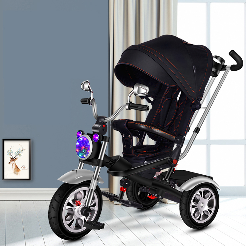 Multifunctional baby trolley, tricycle bicycle children can be sit, can be lying, seat can be rotated(China)