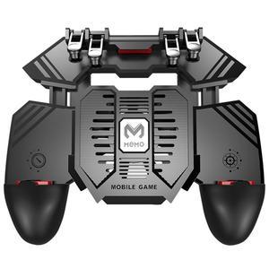 AK77 Game Trigger Phone Cooler Fan Game Controller Pubg Controller With Fan Gamepad Pubg Mobile Trigger L2R2 Shooter Joystick