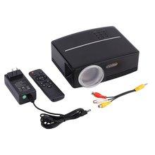 Светодиодный проектор 1800 лм Контрастность 2200:1 Full HD 1080P ТВ домашний кинотеатр поддержка ЖК-дисплей США штекер GP80