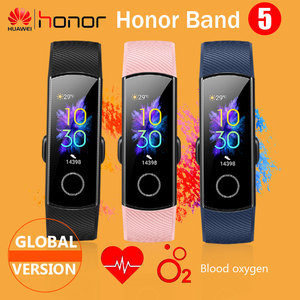 Image 1 - Global Version HONOR Band 5 Smart Wristband Oximeter Blood Oxygen Multiple Dials Heart Rate Fitness Sleep Tracker Passometer NFC