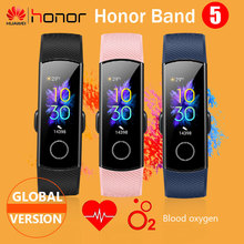 Küresel sürüm onur Band 5 akıllı bileklik oksimetre kan oksijen çoklu aramalar kalp hızı spor uyku Tracker pasometre NFC