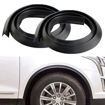 2Pcs 2cmx1.5m Universal Car Wheel Tire Eyebrow Fender Strip Protector Mudguard Flexible Durable Universal Anti-Scratch image
