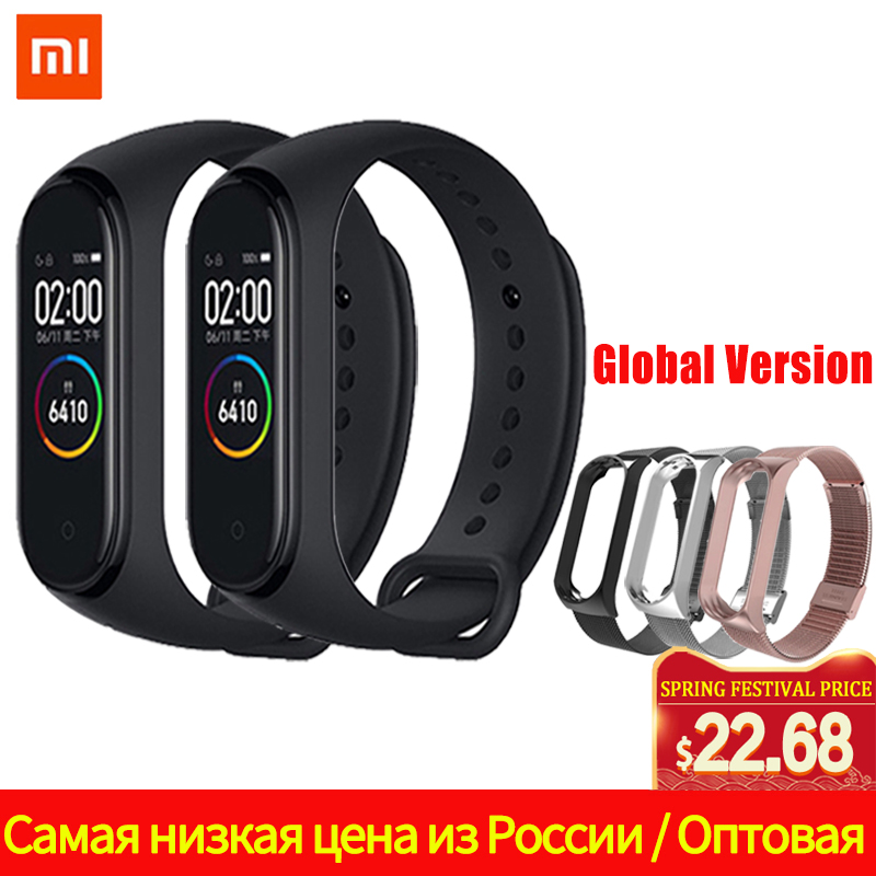 Xiaomi Mi Band 4 2019 Newest Avengers Miband 4 Color Strap Screen Fitness Heart Rate Time Bluetooth 5.0 Smartwatch