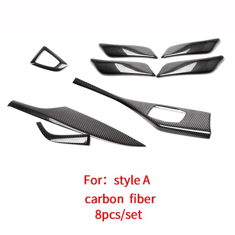 Bmw 1er f22 f23 3d de carbono negro las molduras diapositivas set
