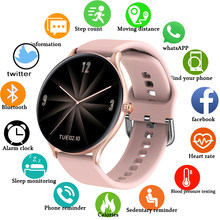 LIGE 2020 Full Touch Women smart watch Band for IOS Android Waterproof Bracelet Heart Rate Monitor Sleep Monitor Smartwatch Men
