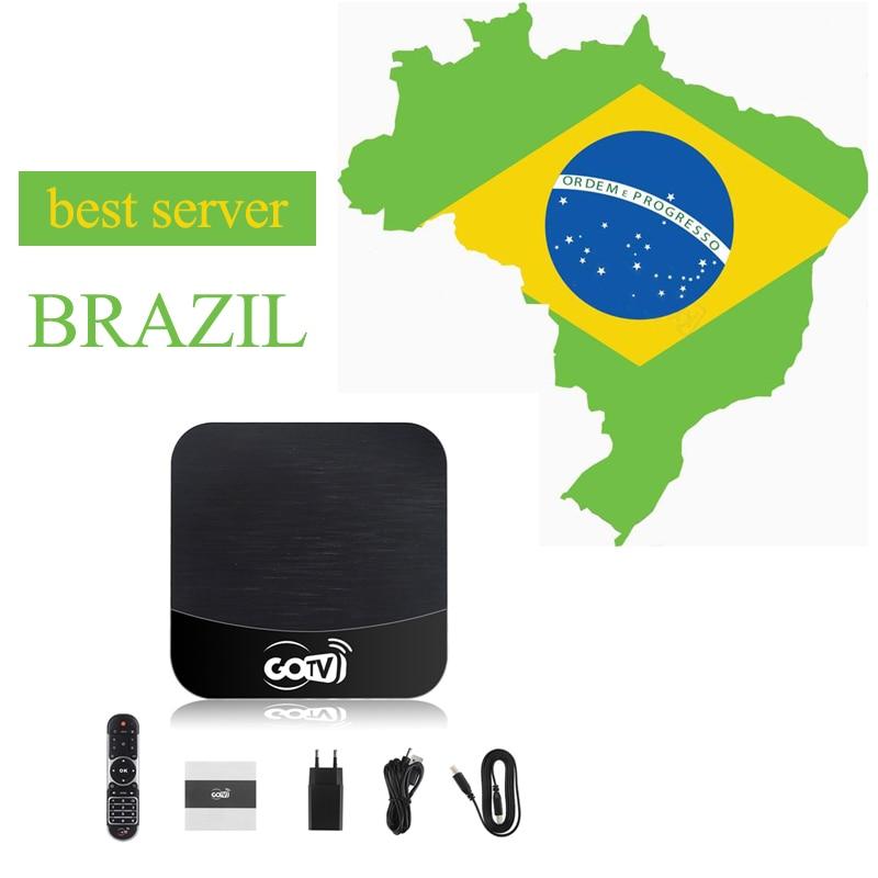 GO TV Box Бразилия 2 года подписки Бразилия TV App португальские каналы Android 7,1 OS TV BOX 1 ГБ 8 ГБ H TV 6 Plus
