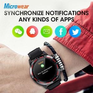 Image 5 - Microwear relógio smartwatch l12, bluetooth, chamadas, ecg + ppg, monitor cardíaco, pressão sanguínea, a prova d água ip68, novo, 2020 l7 l11