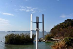Image 5 - 600 w 12 v 24 v cor branca h gerador de turbina eólica vawt eixo vertical energia residencial com pwm/mppt impulso carregador controlador