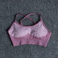 DarkPurple - 2-11 colors seamless yoga suit