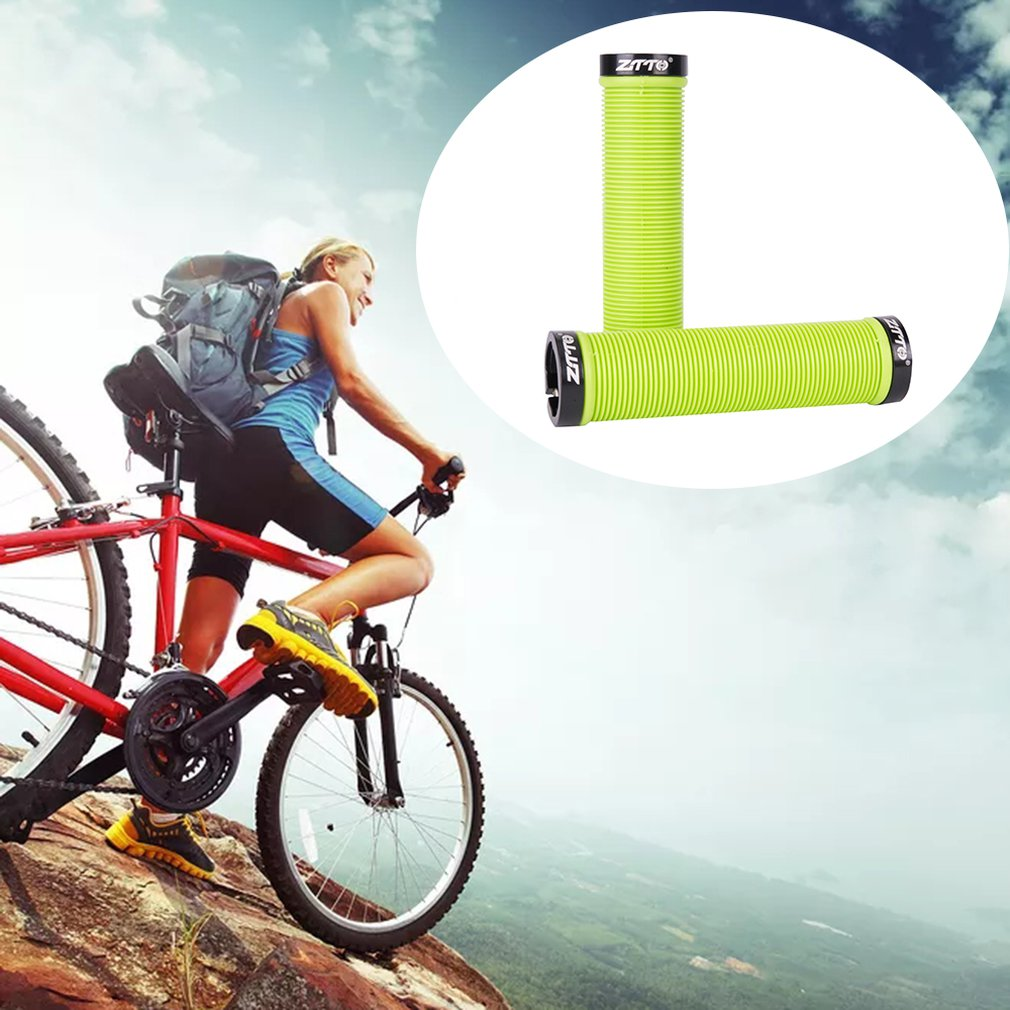 2*Moutain Bike Bicycle Handlebar Grips Cycling Bar End Grips Silicone Gel Grips