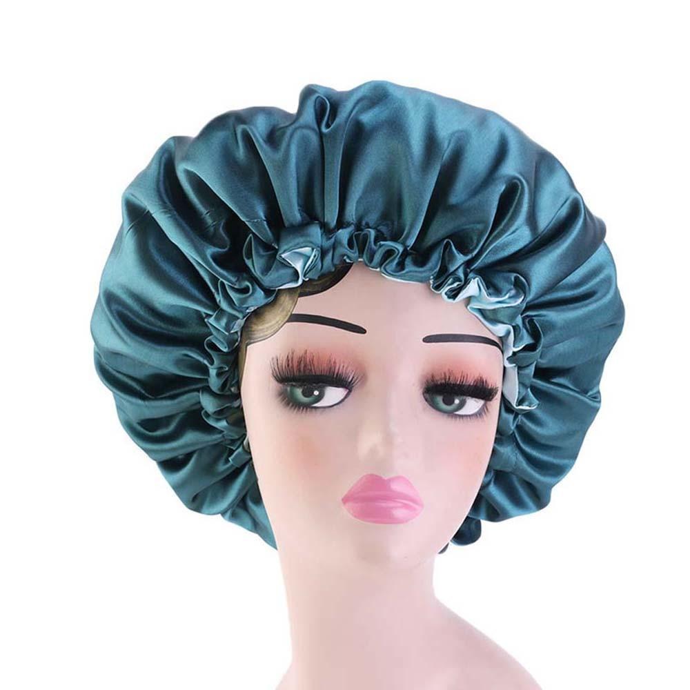 Новинка Двусторонняя Атласная шапочка двухслойная регулируемый размер головной убор для сна головной убор шапочка для весны