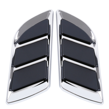 цена на 1 Pairs Car Air Intake Flow Vent Fender Decorative Stickers Side Mesh Cover Front Bumper Hood Bonnet Grilles Vent Decals