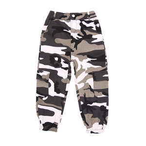 Image 2 - Wine Kid Hip Hop Clothing Camouflage Jogger Pants for Girls Jazz Dance wear Costume Ballroom Dancing Clothes Stage Outfits Suit