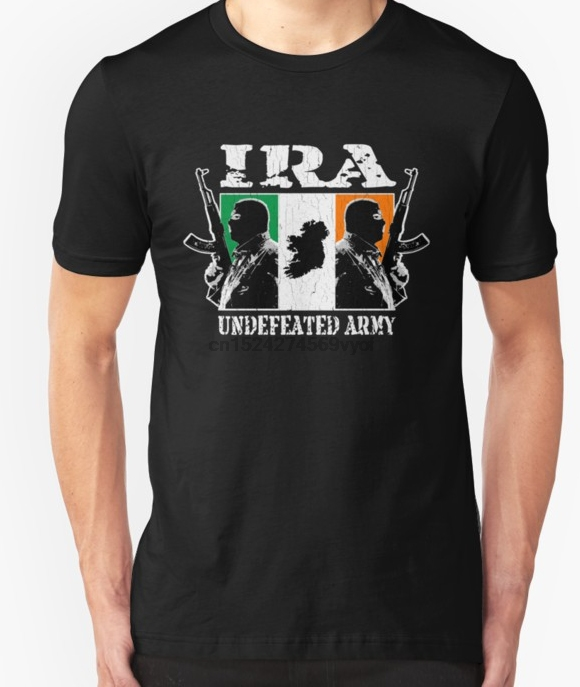 100% cotton o-neck custom printed t-shirt Classic car IRA Undefeated Army (Vintage Distressed) women tshirts