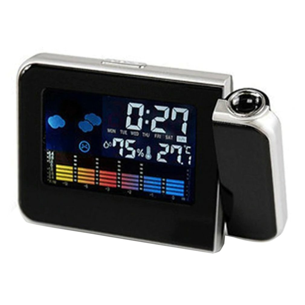 Creative Fashion Lcd Electronic Clock Weather Forecast 8190 Projection Clock Snooze Color Screen Clock