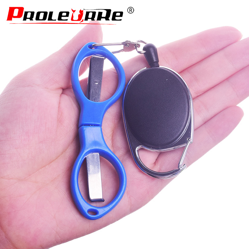 Stainless Steel Fast Folding Fish Use Scissors Telescopic Buckle Accessories Fishing Line Cut Clipper Fishing Scissor Tackle