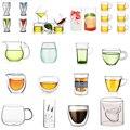 Кофейная чашка с двойными стенками из боросиликатного стекла, 80 мл, для питья молока, чая, фруктового сока, кофе, латте, эспрессо, AQ227