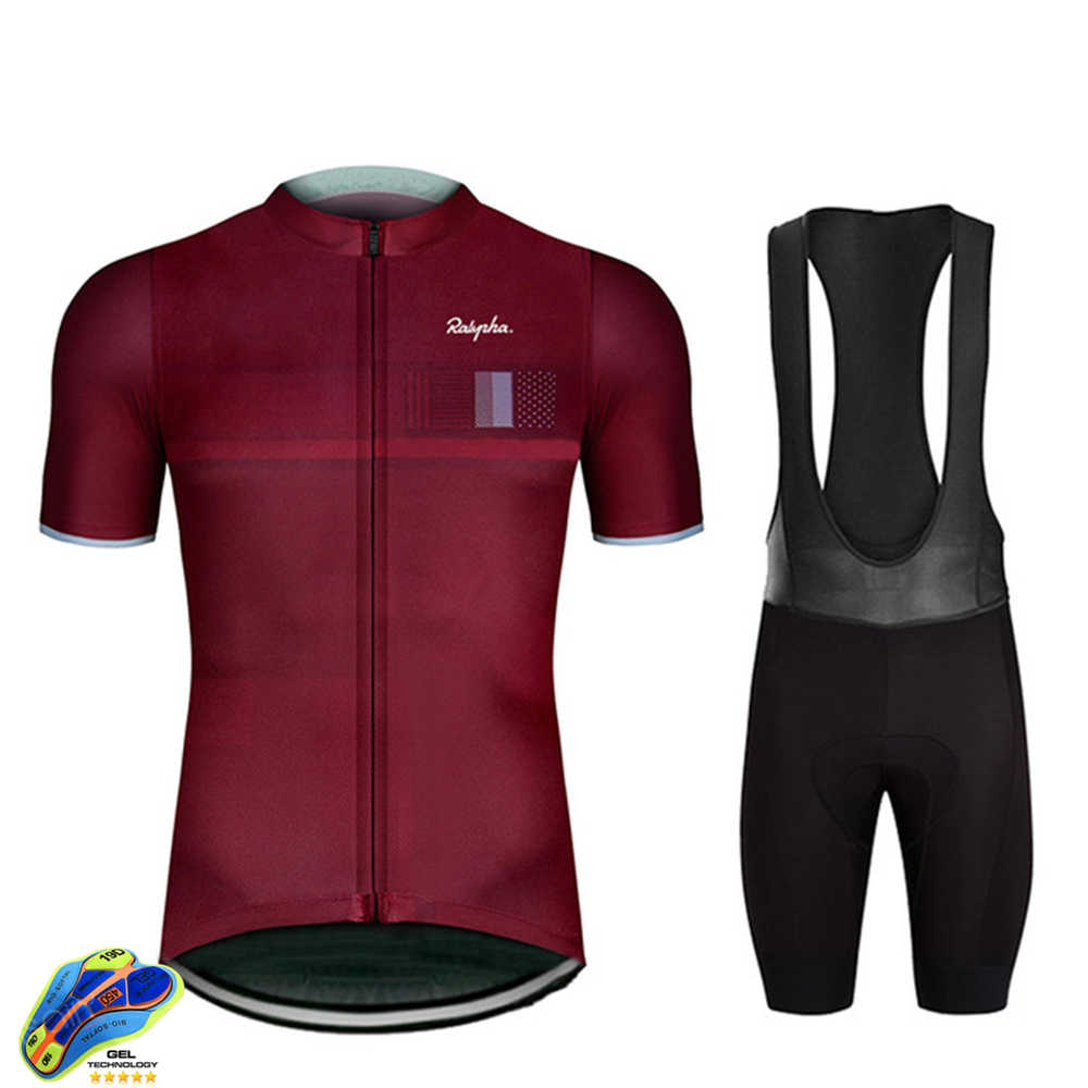 Rapha 2020 Cycling Sets Triathlon Bicycle Clothing Breathable Anti-UV Mountain Cycling Clothes Suits Ropa Ciclismo Verano Gobike