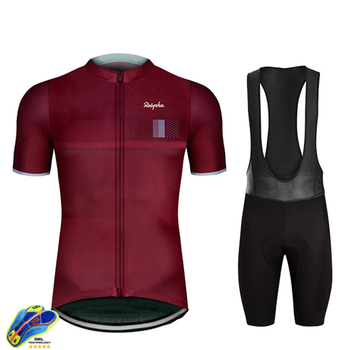 Rapha 2020 Cycling Sets Triathlon Bicycle Clothing Breathable Anti-UV Mountain Cycling Clothes Suits Ropa Ciclismo Verano Gobike tanie i dobre opinie NVV TREK 100 poliester Lycra polyester Spandex Krótki rękaw Factory direct sales 80 poliester i 20 lycra ropa ciclismo hombre