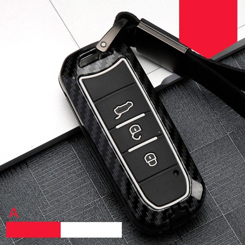 Carbon Fiber Silicone Car Key Fob Shell Cover Case For Baojun Car 510 560 360 730 630 610 310 E100 310W 530 RS-5 Auto Accessory