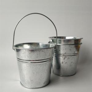 Image 3 - 6 Pz/lotto secchio di Metallo scatola di latta vasi di fiori fioriere Balcone di fiori Vasca grande Secchi