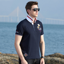 2020 New summer Men Polo Short Tees Bruce shark trendly Soften Cotton Men Tops Casual Smart Loose Style Male polo big size 4XL
