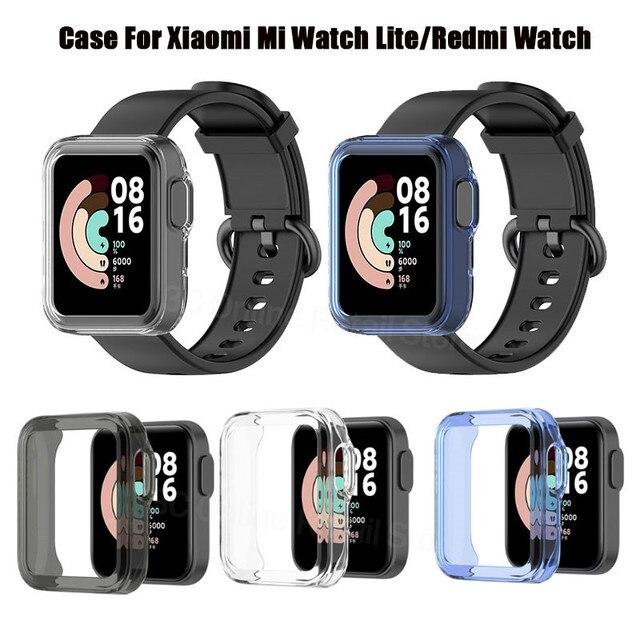 حامي الحال بالنسبة شاومي mi ساعة لايت ساعة ذكية كامل الشاشة واقية قذيفة لينة غطاء من البولي يوريثان ل Redmi ساعة النسخة العالمية