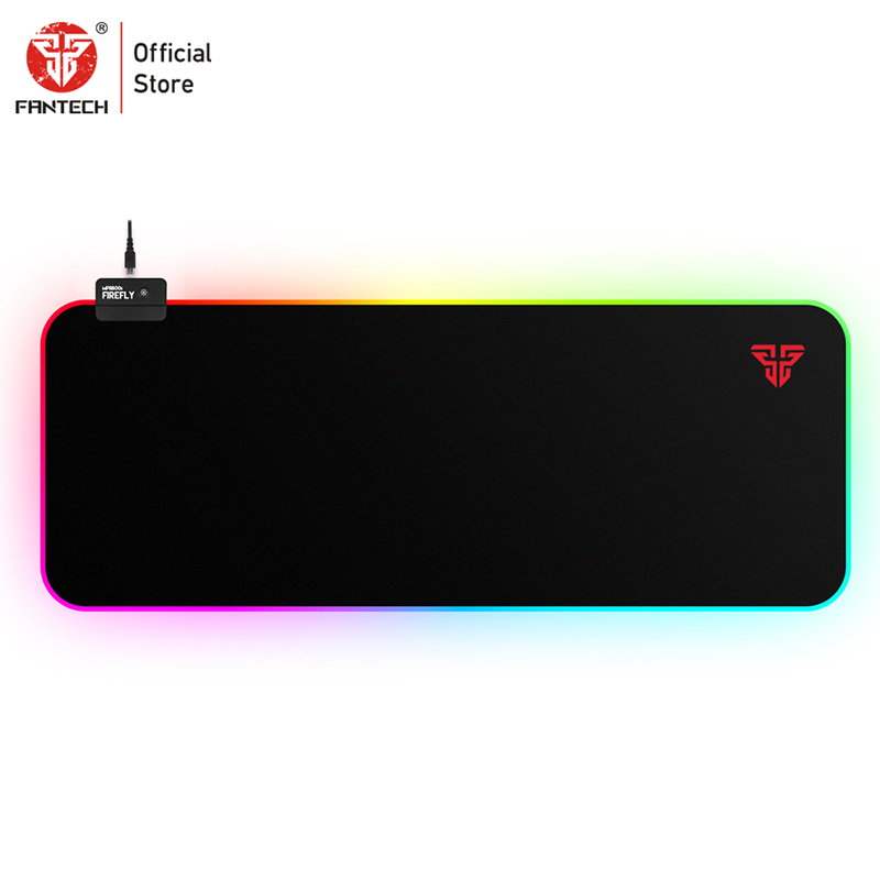 FANTECH MPR800S RGB Large Mouse Pad Profession USB Cable Mousepad Smooth Surface With Locking Edge For FPS LOL Gaming Mive Pad