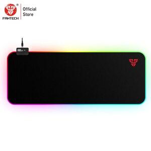 Image 1 - FANTECH MPR800S RGB duża podkładka pod mysz zawód kabel USB podkładka pod mysz gładka powierzchnia z zabezpieczona krawędź dla FPS LOL Gaming Mive Pad