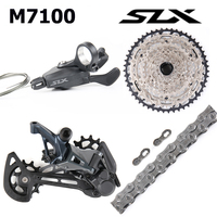 NEW Shimano SLX M7100 Groupset 12 Speed 1x12 MTB Shifter Lever Rear Derailleur Long Cage 10 51T Cassette with XT M8100 Chain