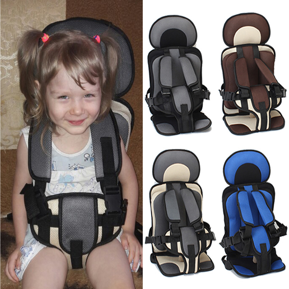 Update Version Portable Baby Car Seat Mat Safe Baby Chair Seat Infant Puff Thickening Sponge Toddle Feeding Chairs 1-5 Years Old