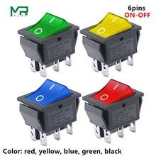 KCD4 кулисный выключатель питания 2 положения/3 положения 6 контактов электрооборудование с выключателем светильник 16A 250VAC/20A 125VAC 1 шт