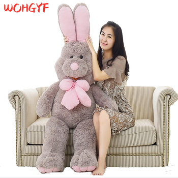 Giant Cute Costco American Big Rabbit Stuffed Bunny Dolls Plush Animal with Long Ears Toys for Children Girls image