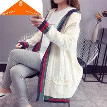 Women Winter Clothes Cardigan Hooded Mujer 2020 Korean Casual Knitted Long Sweater Coat Ladies Thick Autumn Jacket XE6644(China)