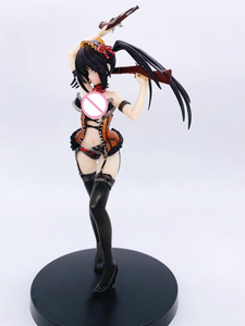 Image 2 - Anime Date A Live Tokisaki Kurumi Nightmare Two Guns Ver PVC Action Figure Collectible Model doll toy 24cm