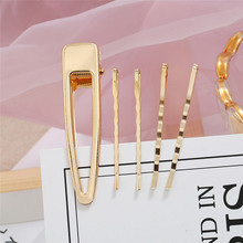 HOCOLE Fashion Gold Color Metal Hair Clips For Women Barrette Hairpins Girls Hair Styling Accessories Headdress Jewelry Korean цена и фото