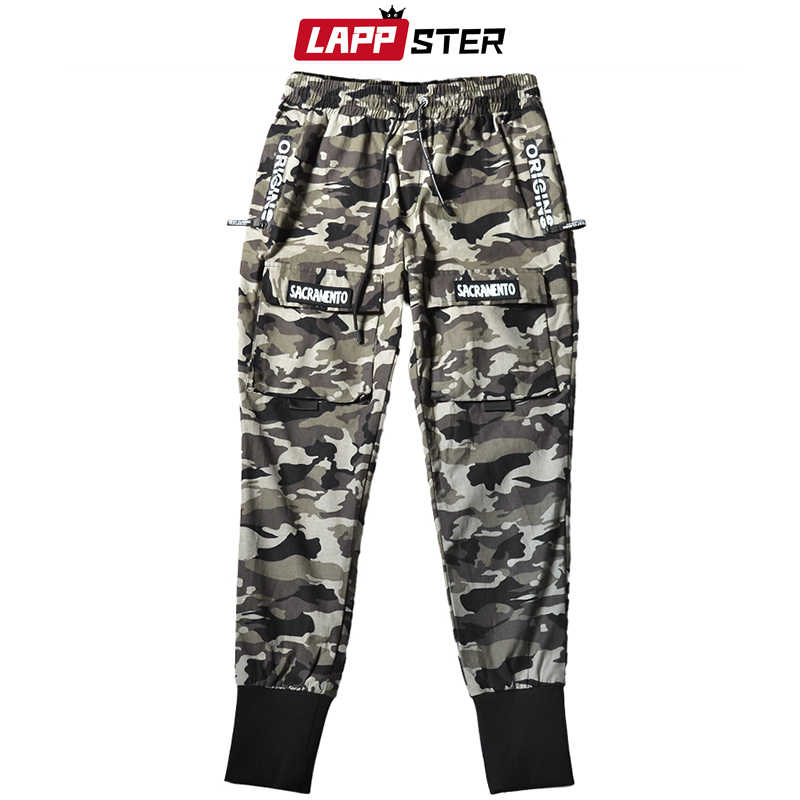 LAPPSTER Männer Streetwear Camo Joggers Hosen 2020 Overalls Herren Harajuku Cargo Hosen Männlichen Camouflage Fashions Hosen Track Hosen