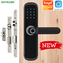 Fingerprint Lock RAYKUBE Smartlife Tuya Wifi Digital-Code Mortise Electronic Home-Security