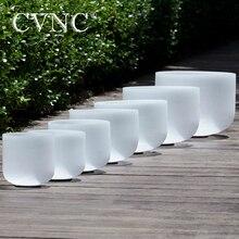 """CVNC 6 """" 12"""" Набор из 7 шт. Note CDEFGAB чакра матовые кварцевые хрустальные поющие чаши"""