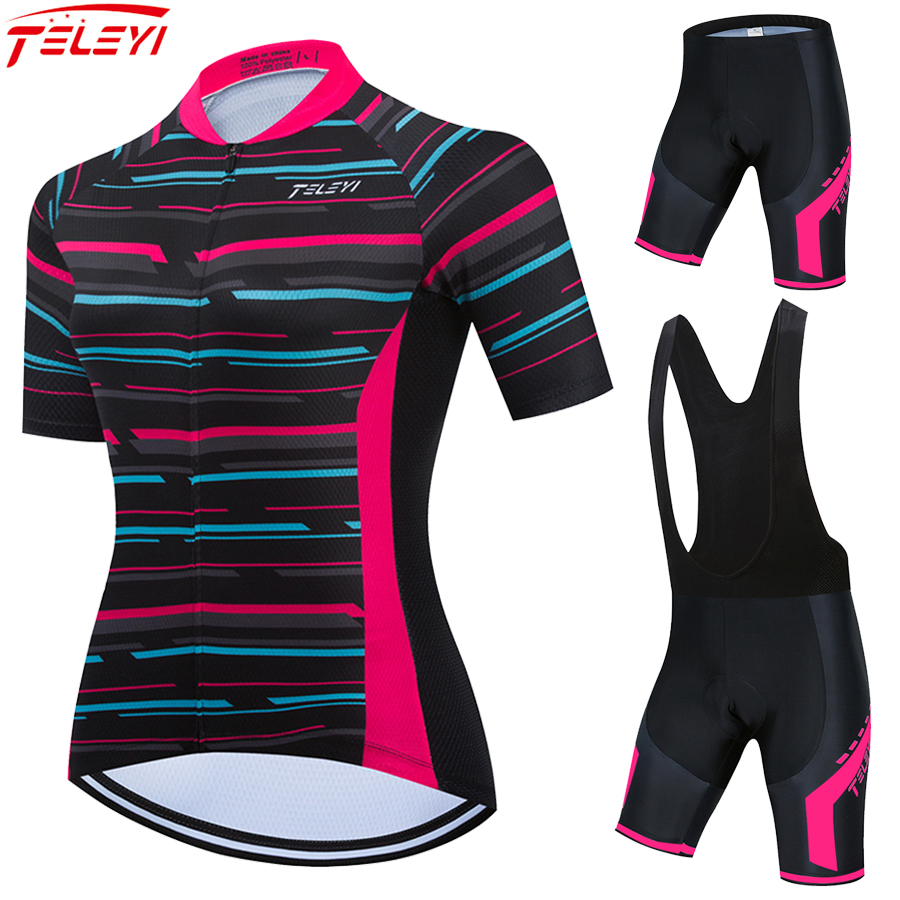 Fashion Summer Cycling Jersey Set RCC SKY Women Sport Shorts 2021 Road Bike Clothing MTB Suit Female Bicycle Clothes Kit Dress