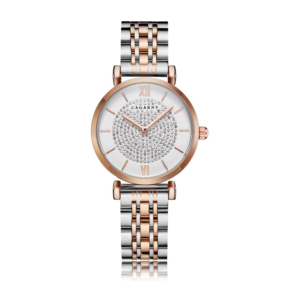 H9fdc25307bfa4a6bb3a3af9a2b629db9g Silver Rose Gold Stainless Steel Bracelet Watch For  Women
